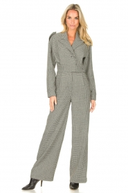 CHPTR S |  Tailored jumpsuit with print Melange | black & white  | Picture 4