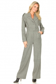 CHPTR S |  Tailored jumpsuit with print Melange | black & white  | Picture 3