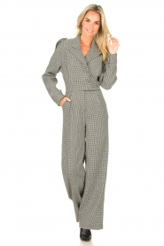 CHPTR S |  Tailored jumpsuit with print Melange | black & white  | Picture 2