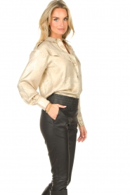 CHPTR S |  Shiny blouse Dolce | gold  | Picture 6
