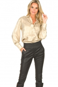 CHPTR S |  Shiny blouse Dolce | gold  | Picture 2