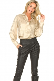 CHPTR S |  Shiny blouse Dolce | gold  | Picture 5