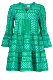 Devotion |  Cotton dress with print Ella | green  | Picture 1