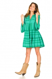 Devotion |  Cotton dress with print Ella | green  | Picture 3