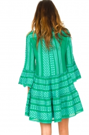 Devotion |  Cotton dress with print Ella | green  | Picture 6