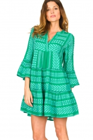 Devotion |  Cotton dress with print Ella | green  | Picture 4