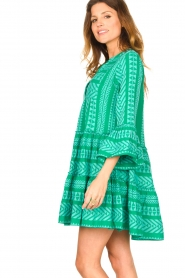 Devotion |  Cotton dress with print Ella | green  | Picture 5