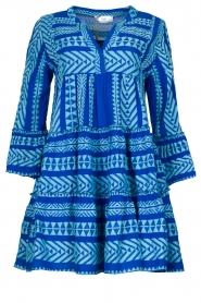 Devotion |  Cotton dress with print Ella | blue  | Picture 1