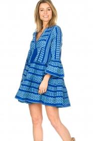 Devotion |  Cotton dress with print Ella | blue  | Picture 2