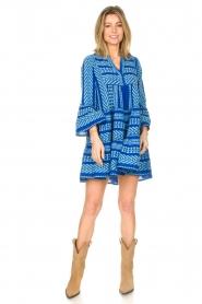 Devotion |  Cotton dress with print Ella | blue  | Picture 3