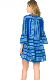 Devotion |  Cotton dress with print Ella | blue  | Picture 6