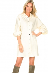 CHPTR S    Blouse dressm with puff sleeves Corny   ecru    Picture 4