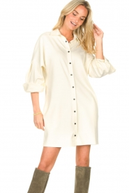CHPTR S    Blouse dressm with puff sleeves Corny   ecru    Picture 5