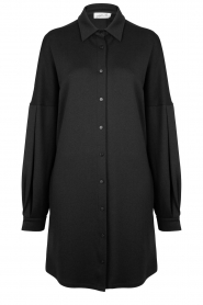 CHPTR S |  Blouse dress with puff sleeves Corny | black  | Picture 1