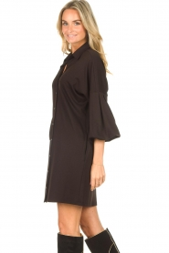 CHPTR S |  Blouse dress with puff sleeves Corny | black  | Picture 6