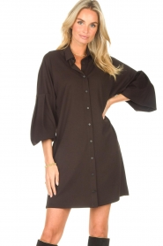 CHPTR S |  Blouse dress with puff sleeves Corny | black  | Picture 2