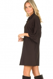 CHPTR S |  Blouse dress with puff sleeves Corny | black  | Picture 5