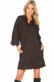 CHPTR S |  Blouse dress with puff sleeves Corny | black  | Picture 4