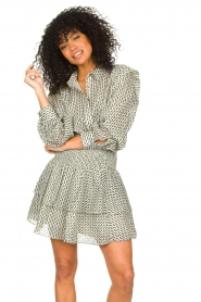 Sofie Schnoor |  Smocked cotton skirt Karoline | black  | Picture 4