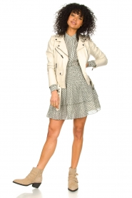 Sofie Schnoor |  Smocked cotton skirt Karoline | black  | Picture 3