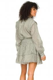 Sofie Schnoor |  Smocked cotton skirt Karoline | black  | Picture 6