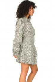 Sofie Schnoor |  Smocked cotton skirt Karoline | black  | Picture 5