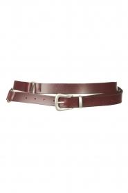 The Kaia |  Leather wrap belt Martha | bordeaux  | Picture 1