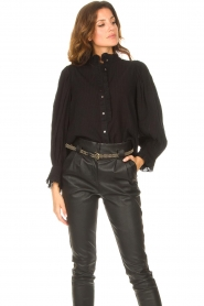 The Kaia |  Leather belt Fane | black  | Picture 3