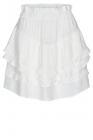 Sofie Schnoor |  Skirt with ruffles Louie | white  | Picture 1