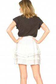 Sofie Schnoor |  Skirt with ruffles Louie | white  | Picture 6