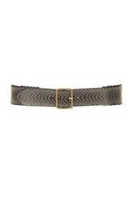 The Kaia |  Leather belt Amber | black  | Picture 1