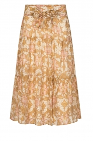 Sofie Schnoor |  Maxi skirt with tie detail Solvej | beige  | Picture 1