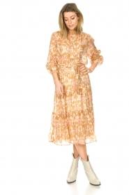 Sofie Schnoor |  Midi skirt with tie detail Solvej | beige  | Picture 5