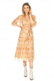 Sofie Schnoor |  Midi skirt with tie detail Solvej | beige  | Picture 4