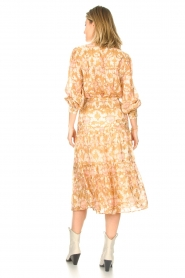 Sofie Schnoor |  Midi skirt with tie detail Solvej | beige  | Picture 7