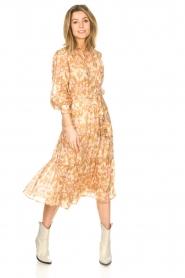 Sofie Schnoor |  Midi skirt with tie detail Solvej | beige  | Picture 2