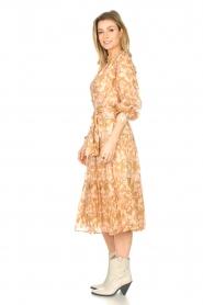 Sofie Schnoor |  Midi skirt with tie detail Solvej | beige  | Picture 6