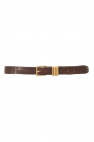 The Kaia |  Leather belt Polly | brown  | Picture 1