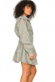 Sofie Schnoor |  Cotton blouse with ruffles Aurora | black  | Picture 5