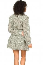 Sofie Schnoor |  Cotton blouse with ruffles Aurora | black  | Picture 6