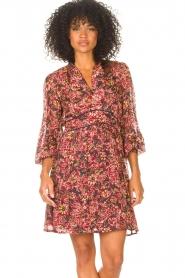 ba&sh |  Printed dress Giani | bordeaux  | Picture 4