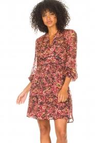 ba&sh |  Printed dress Giani | bordeaux  | Picture 5