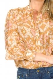 Sofie Schnoor | Blouse met print Mollie | beige   | Afbeelding 8
