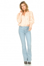 Sofie Schnoor |  Cotton blouse with puff sleeves Marie | pink  | Picture 3