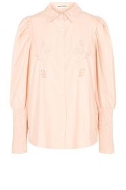 Sofie Schnoor |  Cotton blouse with puff sleeves Marie | pink  | Picture 1