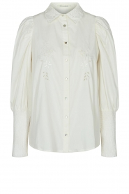 Sofie Schnoor |  Blouse with puff sleeves Marie | white  | Picture 1
