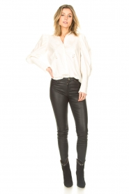 Sofie Schnoor |  Blouse with puff sleeves Marie | white  | Picture 3