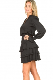 Sofie Schnoor |  Smocked blouse with ruffles Alina | black  | Picture 5