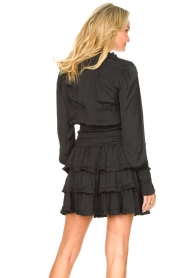 Sofie Schnoor |  Smocked blouse with ruffles Alina | black  | Picture 6