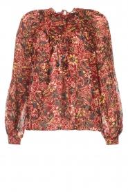 ba&sh |  Printed blouse Gaelle | bordeaux  | Picture 1